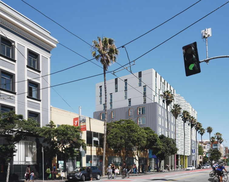 1950 Mission Street Rendering - Mission Street
