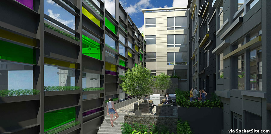 249 Pennsylvania Avenue Rendering: Green Wall and Rear Yard
