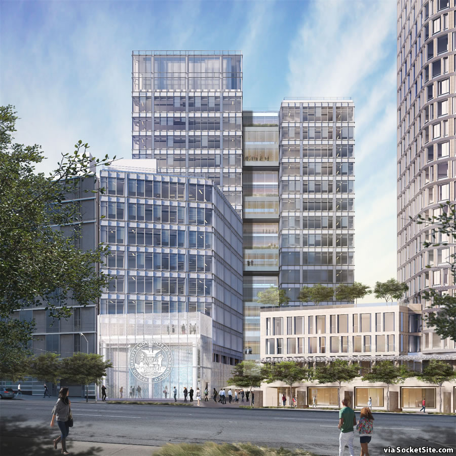 1500 Mission Street Rendering: City Building