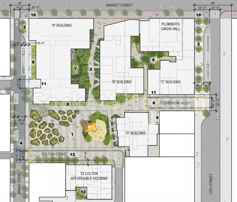 1629 Market Street Site Plan