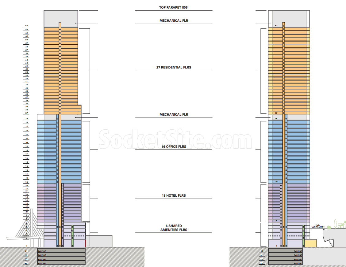 546 Howard Street Tower Sections