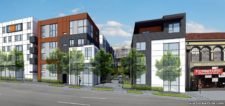 1298 Howard Street Rendering: Howard Street