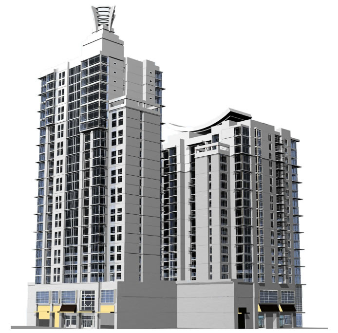 325 7th Street Rendering: 6th and Harrison