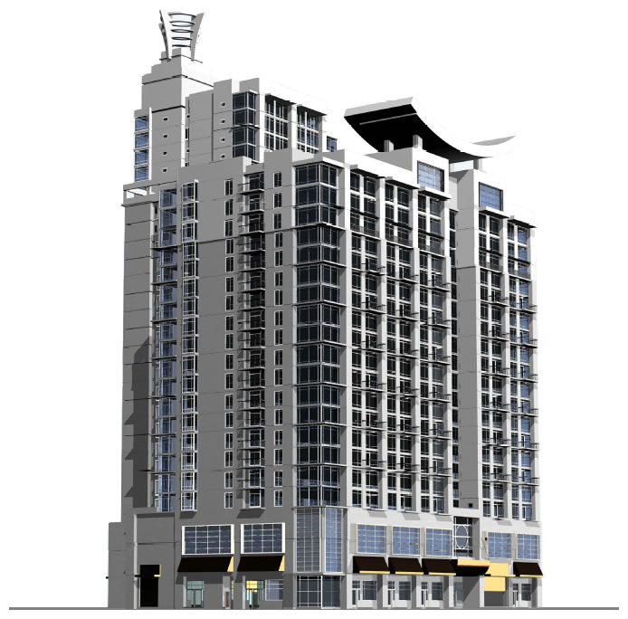 325 7th Street Rendering: 7th and Harrison