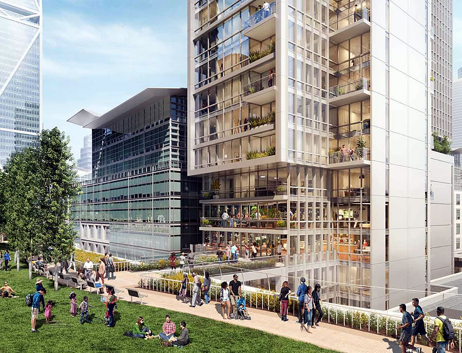 524 Howard Street Rendering: City Park Connection