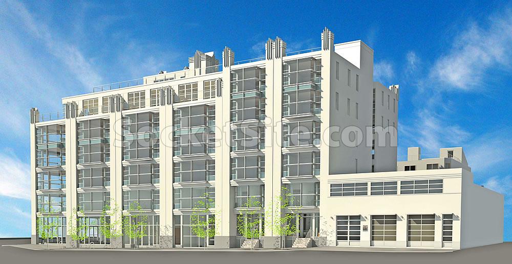 1052-1060 Folsom Street Rendering: Russ Street