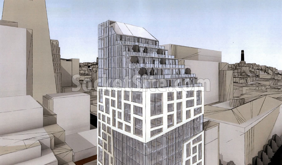 447 Battery Street Rendering: Residential Floors
