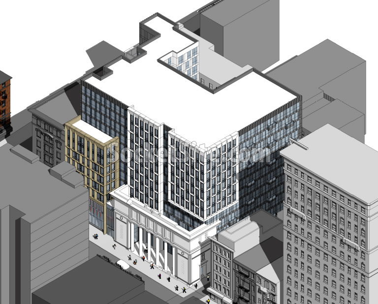 450 O'Farrell Street Rendering 2017 - Aerial SE