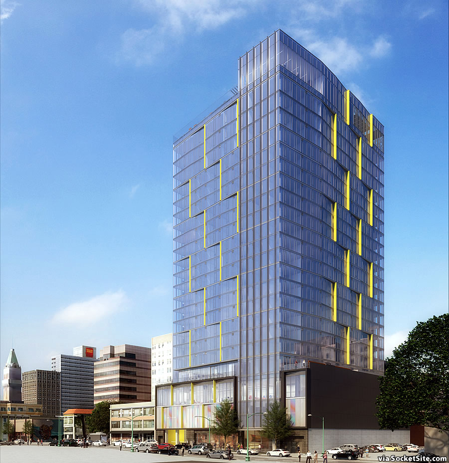 Socketsite Renderings For Proposed 25 Story Oakland