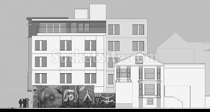 3001-3021 24th Street Rendering - Balmy Street