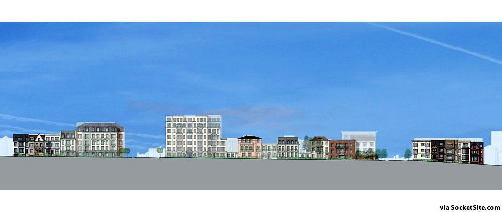 3700 California Rendering - Sacramento Street Facades