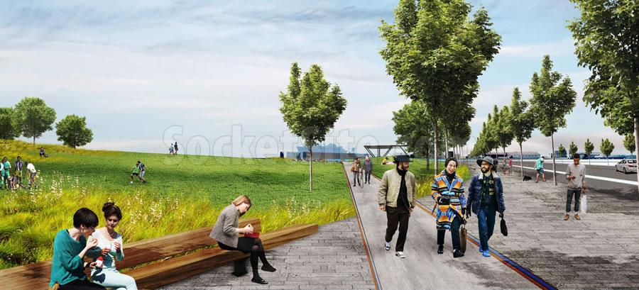 Bayfront Park Rendering - Path