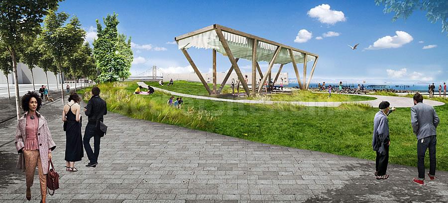 Bayfront Park Rendering - Shade Pavillion