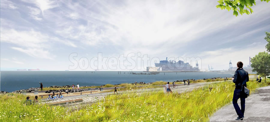 Bayfront Park Rendering - Shoreline Path