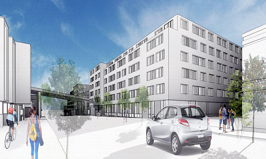 Plan to Prohibit Street Parking for a Big Building with a Small Garage