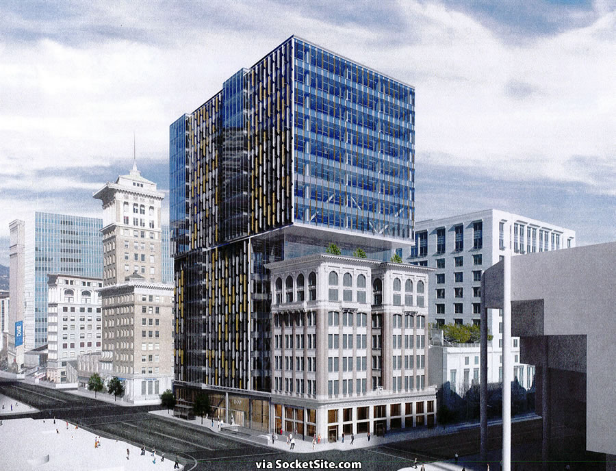 Tower to Rise over Historic Building Raises Concerns