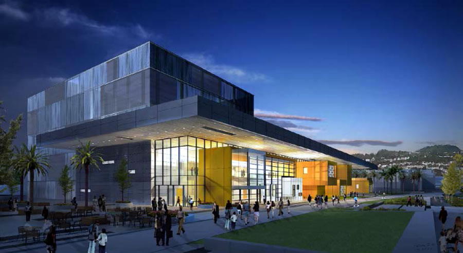 CCSF PAEC Rendering - Night