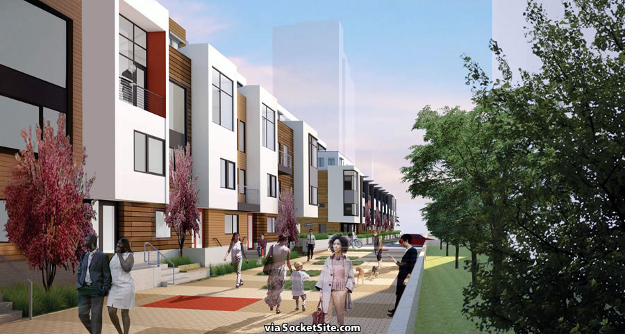 Candlestick Point Block 8A - Rendering - Townhomes