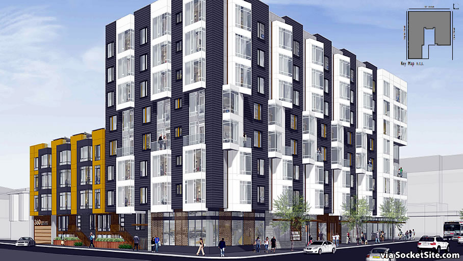 360 5th Street Rendering: 5th and Clara