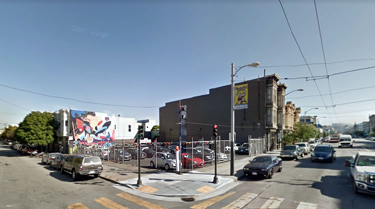 Mission District Parking Lot on the Market Touting Potential