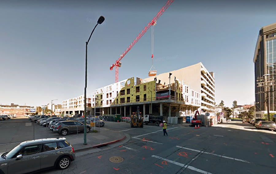 Fire Consumes Major Development near Oakland's Auto Row