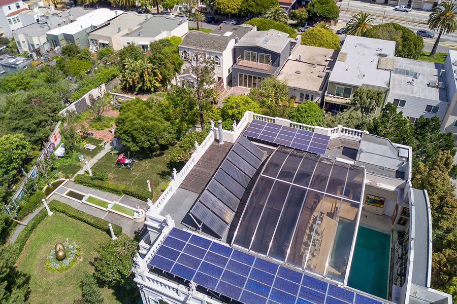 47 chenery Street Pool Roof Open Aerial