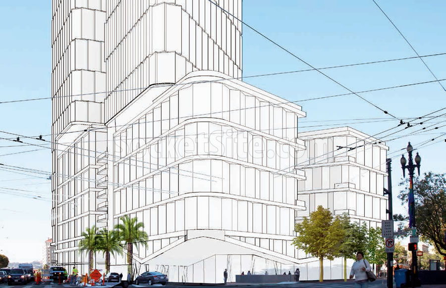 10 South Van Ness 2017 - Renderining Proposed - Street Level