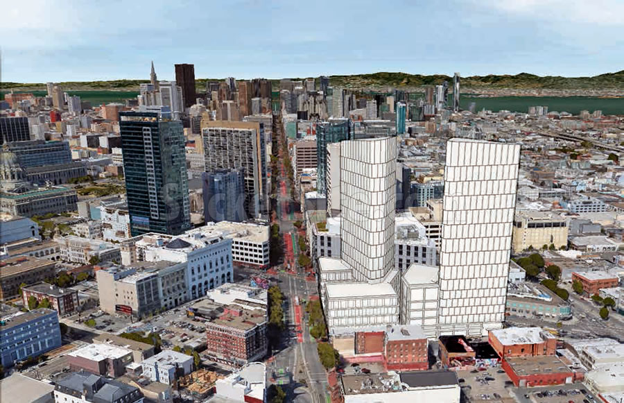 Refined Designs and Timing for a Pair of Hub District Towers