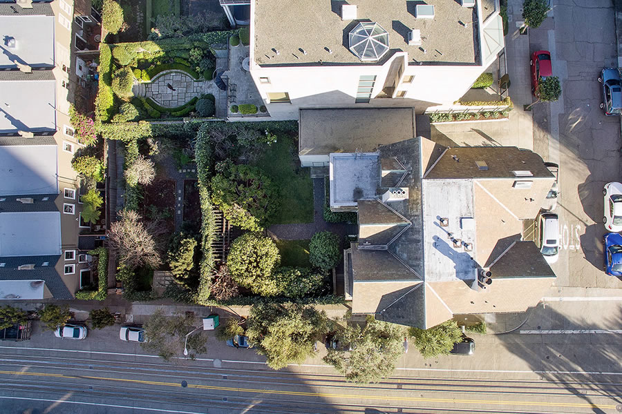 898 Francisco Street Lot Aerial