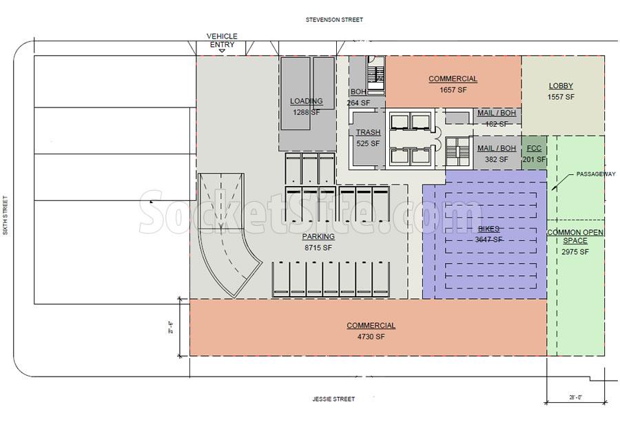 469 Stevenson Street Site Plan