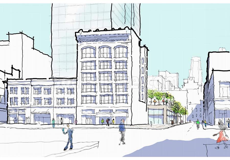 469 Stevenson Street Tower Massing: 6th Street