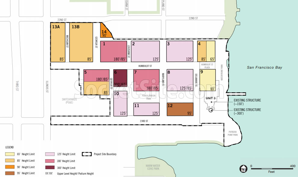 Potrero Power Plant Plans - Heights