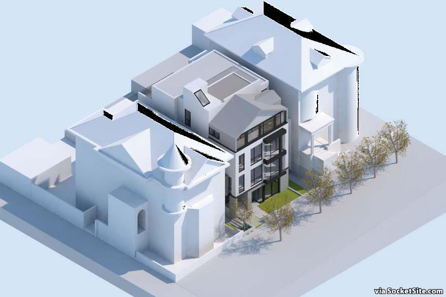 1010 Stanyan Street Rendering - Aerial