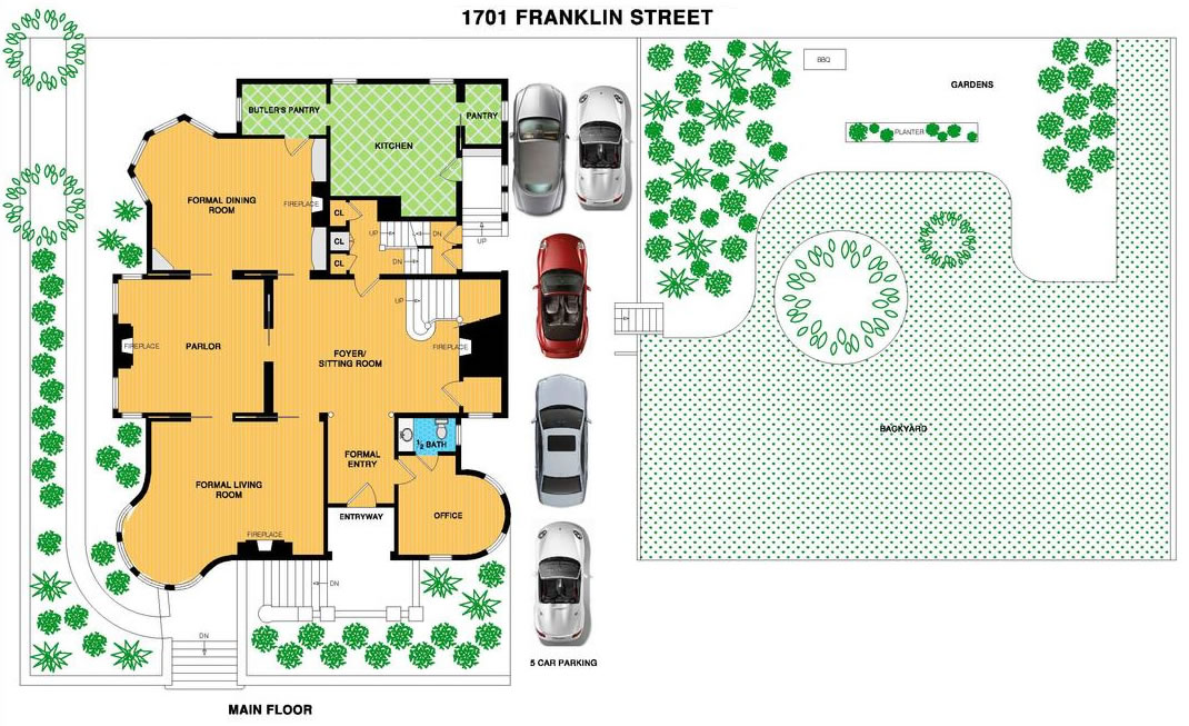 1701 Franklin Street Main Floor Plan