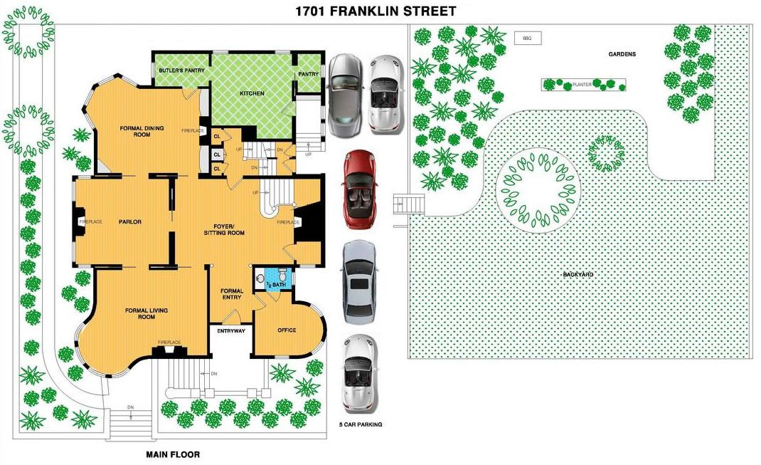 1701 Franklin Street Main Floor Plan