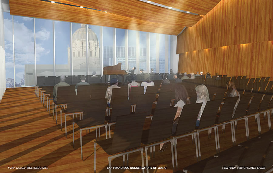 200 Van Ness Rendering 2017 - Performance Hall