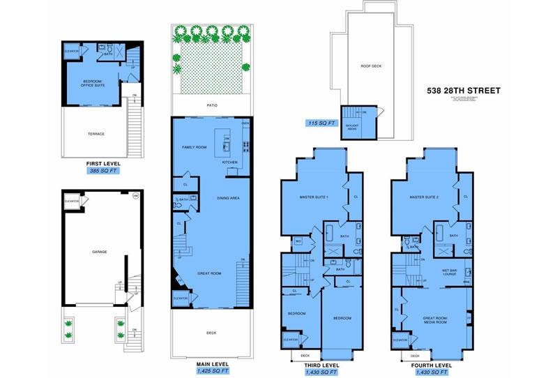 538 28th Street Floor Plan