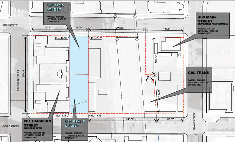 430 Main Street Site Map
