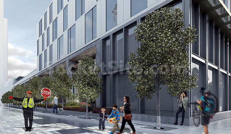 600 Van Ness Rendering - Corner of Elm