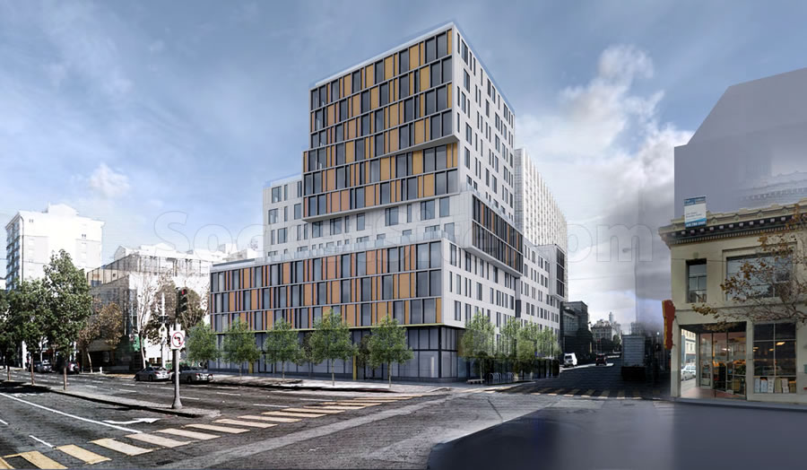 600 Van Ness Rendering - Corner of Golden Gate
