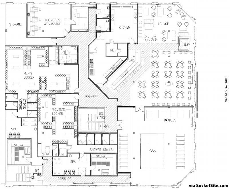 799 Van Ness Avenue Plans - Second Floor