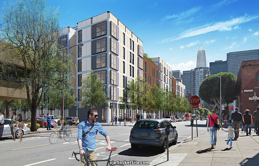88 Broadway Rendering: Front and Vallejo