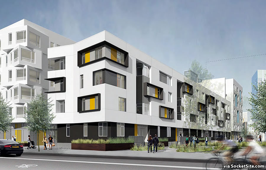 Mission Bay Block 6W Rendering: Mid-Block Mews