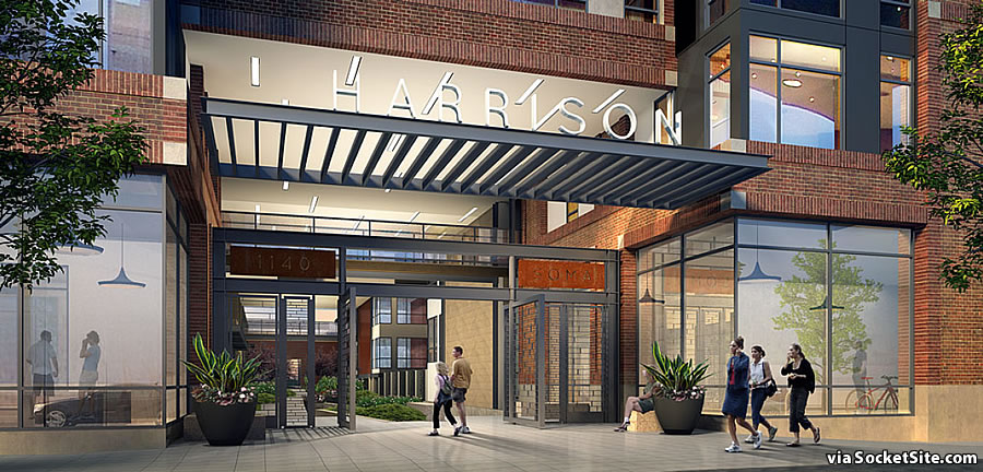 1140 Harrison Street Rendering 2018 - Entrance