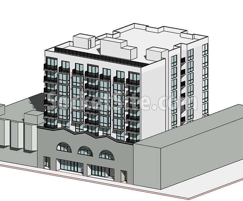 1355 Fulton Street Rendering - Aerial