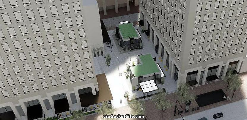555 Market Street Plaza Rendering - Aerial