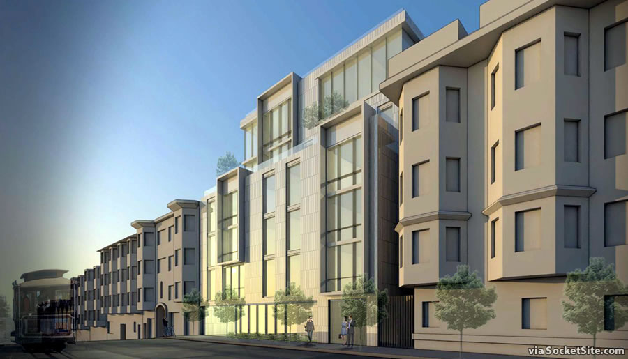 Plans for an Upscale Nob Hill Infill Project