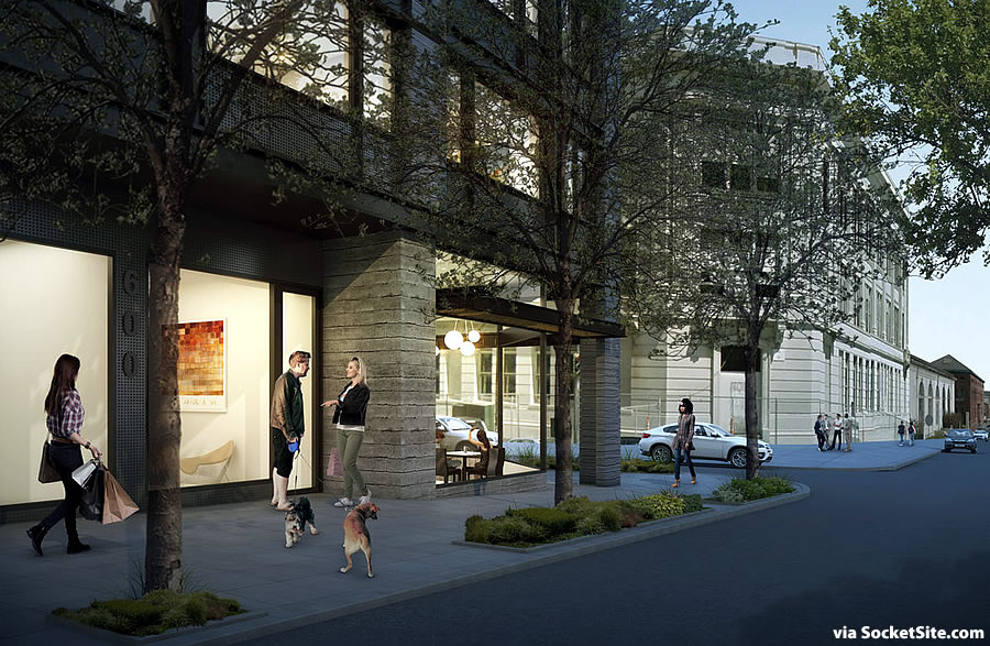 600 20th Street Rendering - Retail