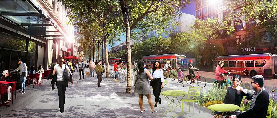Better Market Street Rendering 2018 - Sidewalk