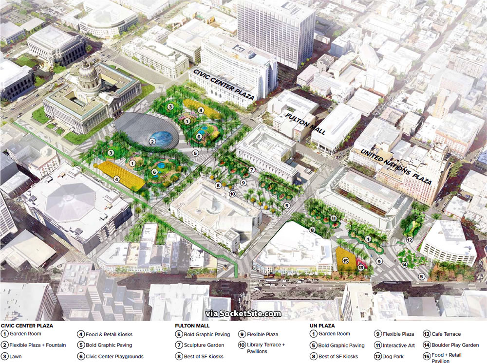 Civic Center Public Realm Plan Rendering - Culture